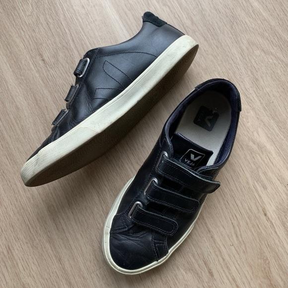 Black Veja Esplar Velcro 3lock Sneakers